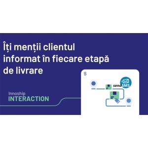 Parteneriat SendSMS - Innoship : Îți menții clientul informat în fiecare etapă de livrare