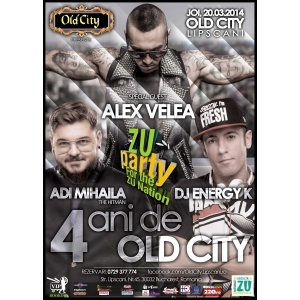 alex velea. 4 Ani de Old City Concert Alex Velea si ZU PARTY