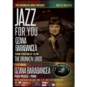 Centrul Seeds for Happiness. Jazz for You by Ozana Barabancea @ The Drunken Lords