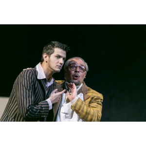Bogdan Mihai (Ernesto) & Marco Filippo Romano (Don Pasquale). Photo by Thomas Dashuber