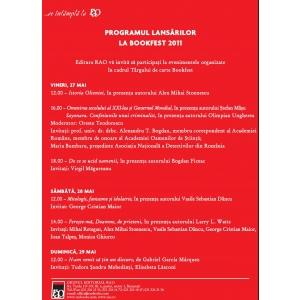 RAO. Lansarile RAO la Targul de carte Bookfest 2011