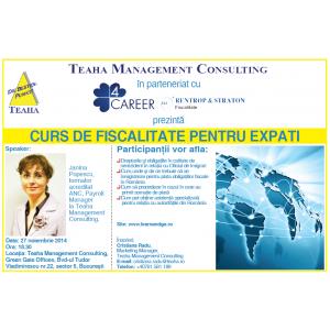 EXPATI. Curs de fiscalitate pentru expati
