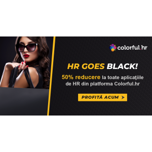 De Black Friday, Romanian Software ofera 50% reducere la toate aplicatiile de HR din platforma colorful.hr