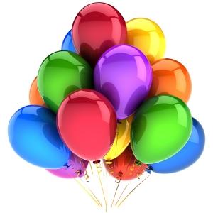 Baloane pentru petrecere si baloane de folie metalizata umflate cu heliu, un plus de culoare pentru petrecerea ta!