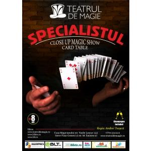"""""""Specialistul"""", un show de Close-up Magic la Teatrul de Magie, pe 20 şi 27 aprilie, de la 19:30"""