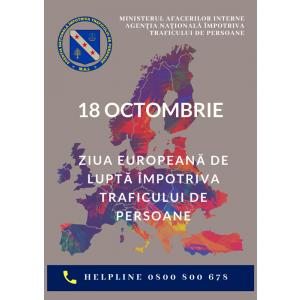 Săptămâna prevenirii traficului de persoane 14 – 20 octombrie 2019
