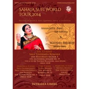 muzică sufi. Recitaluri Anandita Basu de muzică sufi, qawwali, dans și meditație