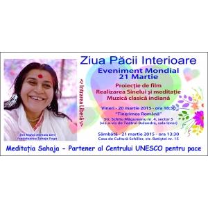 Ziua Internationala a Pacii Interioare celebrata la Bucuresti