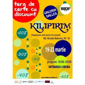 KILIPIRIM, cel mai important târg de carte cu discount,  va avea loc peste o săptămână la Galeria Dalles