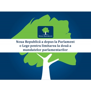 Noua Republică a depus la Parlament o Lege pentru limitarea la două a mandatelor parlamentarilor