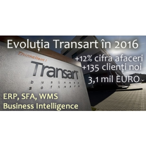 Transart. Afacerea Transart - 135 clienți noi și 12% creștere în 2016