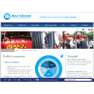 website nou. Website MIRA TELECOM