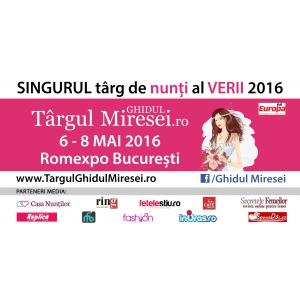 O zi. Targul Ghidul Miresei, 6-8 mai 2016, Romexpo Bucuresti: Nunta perfecta organizata intr-o zi!