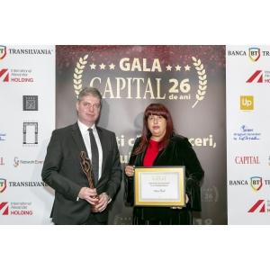 Anca Vlad a primit Premiul de Excelență în Antreprenoriat, oferit de Revista Capital