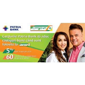 Cardurile Patria Bank aduc 5% bani înapoi pe card și premii suplimentare când sunt folosite în farmaciile Catena