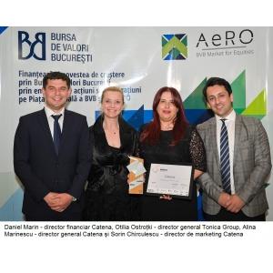 """Catena, premiată de Bursa de Valori, în cadrul proiectului """"Made in Romania"""" 2019"""