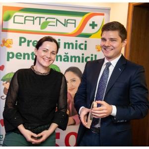 Gabriela Dinu, specialist marketing mother and baby care, Alexandru Vlad, vicepreședinte Fildas-Catena Grup