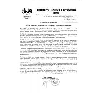 declaratia unica la ANAF. CNPR condamna actiunile injuste ale ANAF la adresa profesiilor liberale