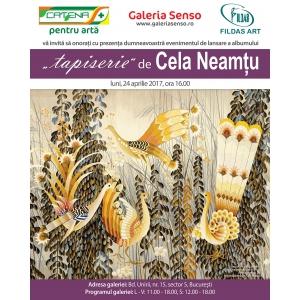 """Lansare – eveniment la Galeria SENSO - albumul  """"tapiserie"""" de Cela Neamțu"""