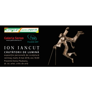 """Vernisajul expoziţiei personale de sculptură """"Căutătorii de lumină"""" a artistului  Ion Iancuț – Galeria de Artă Senso București"""
