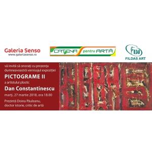 """Vernisajul expoziţiei personale  """"PICTOGRAME II"""" – DAN CONSTANTINESCU Marţi, 27 martie 2018, orele 18:00, Galeria de Artă Senso, Bucureşti"""