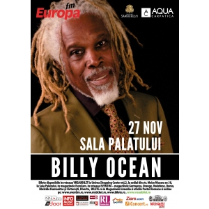 billy. Billy Ocean - 27 noiembrie 2013, Sala Palatului
