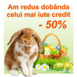 reduceri la dobanda. campanie CreditFix.ro