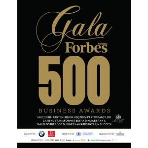 gala 500 business awards. Elita mediului de afaceri românesc, premiată la Gala Forbes 500 Business Awards