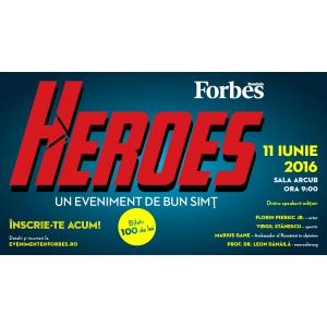 eroi. Forbes Heroes aduce pe scena a treia generație de eroi