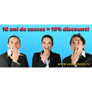 Competent Consulting. Discount aniversar de 10% la 10 ani de succes - Competent Consulting