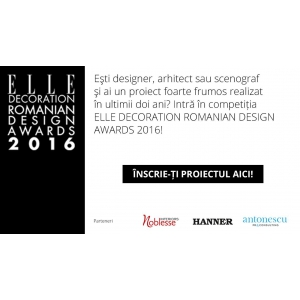 elle decoration awards. Noblesse Interiors, partener Elle Decoration Romanian Design Awards 2016
