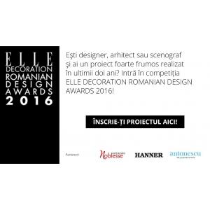 awards. Noblesse Interiors, partener Elle Decoration Romanian Design Awards 2016