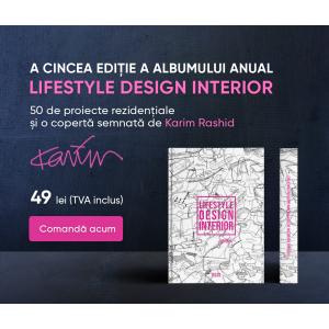 """A cincea ediție a albumului anual """"Lifestyle Design Interior"""": 50 de proiecte rezidențiale și o copertă semnată de Karim Rashid"""