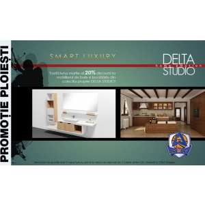 asesoft. Delta Studio si CSU Asesoft iti ofera 20% discount pentru baia si bucataria visurilor tale