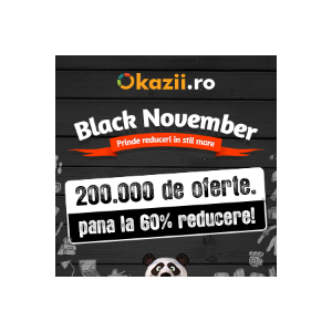 Black November la Okazii.ro: peste 200.000 de produse cu reduceri de pret