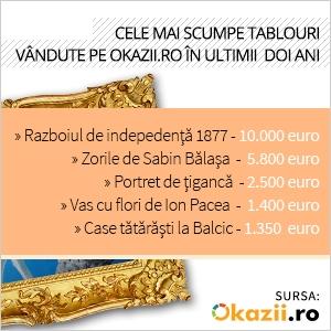 obiecte de arta. Topul celor mai scumpe tablouri vandute pe Okazii.ro in ultimii 2 ani