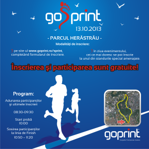 cros gosprint. Crosul GoSPrint - 13 octombrie - Parcul Herastrau