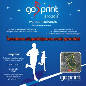 octombrie. Crosul GoSPrint - 13 octombrie - Parcul Herastrau