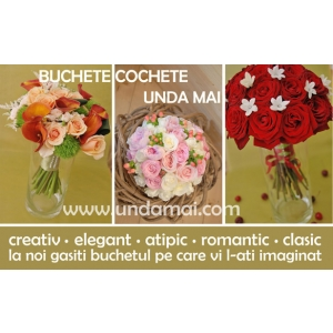 mirese. Buchete nunta Unda Mai - creative, elegante, romantice, atipice sau clasice