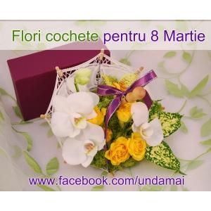 buchete flori martie. Flori creative pentru 8 Martie