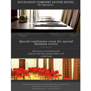 performanta in afaceri. Sala conferinte Bucharest Comfort Suites Hotel