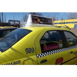 Casino Palace pariaza pe publicitatea neconventionala pe taxi