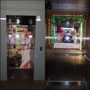 Publicitate in lifturile cladirilor de birouri din Bucuresti