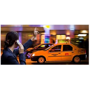 Publicitate pe / in taxi