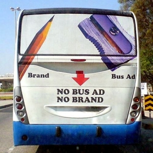 publicitate. No Bus Ad, No Brand