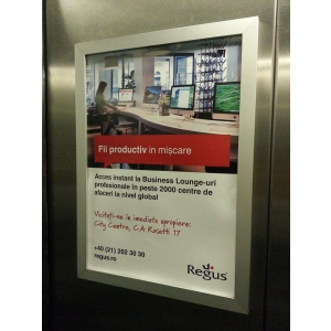 rame publicitare in lift. Publicitate in lift in cladiri de birouri