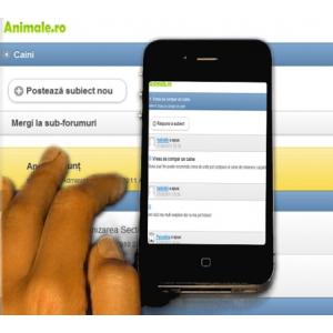 mancare pentru animale. Animale.ro a lansat versiunea pentru telefoane mobile a forumului