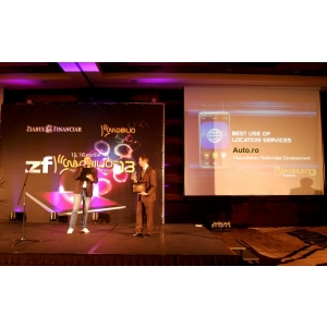 "zf mobilio. Aplicatia Auto.ro a castigat premiul ""Best use of location services"" in cadrul ZF Mobilio"