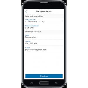 Şoferii au acum posibilitatea să plătească taxa de pod  din aplicaţia Auto.ro