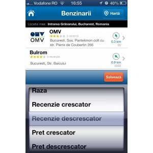 Romanii pot edita serviciile auto din cadrul aplicatiei de mobil